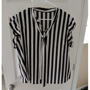 Black and white stripped blouse, xl